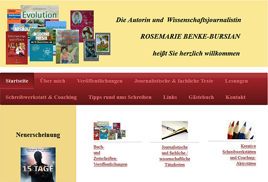 Rosemarie Benke-Bursian: Website