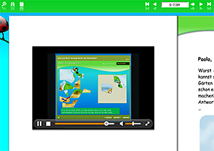 Enhanced eBook mit Videoplayer
